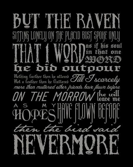 Etsy https://www.etsy.com/listing/108159349/nevermore-edgar-allan-poe-quote-modern?utm_source=Pinterest&utm_medium=PageTools&utm_campaign=Share